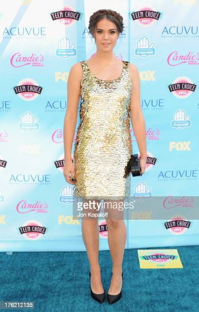 Actress Maia Mitchell arrives at the 2013 Teen Choice Awards at Gibson Amphitheatre on August 11 2013 in Universal City California