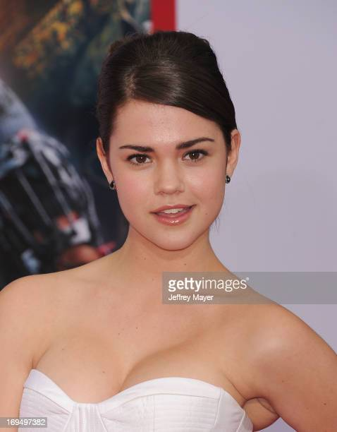 Actress Maia Mitchell arrives at the Los Angeles Premiere of 'Iron Man 3' at the El Capitan Theatre on April 24 2013 in Hollywood California