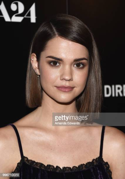 Actress Maia Mitchell arrives at the Los Angeles special screening of Hot Summer Nights at the Pacific Theatres at The Grove on July 11 2018 in Los...