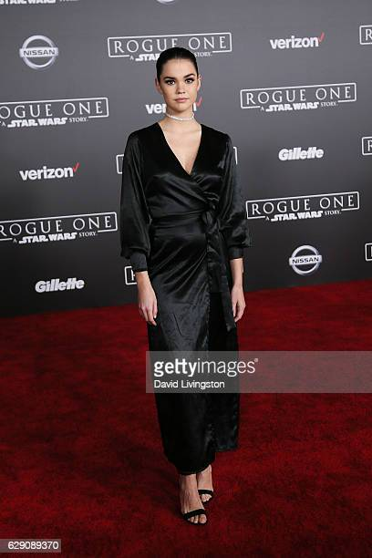 Actress Maia Mitchell arrives at the premiere of Walt Disney Pictures and Lucasfilm's Rogue One A Star Wars Story at the Pantages Theatre on December...