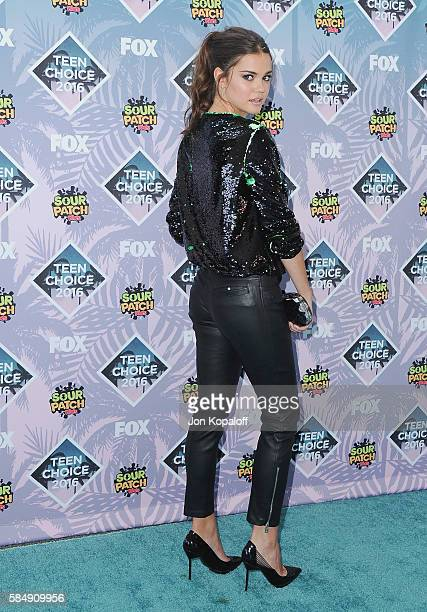 Actress Maia Mitchell arrives at the Teen Choice Awards 2016 at The Forum on July 31 2016 in Inglewood California