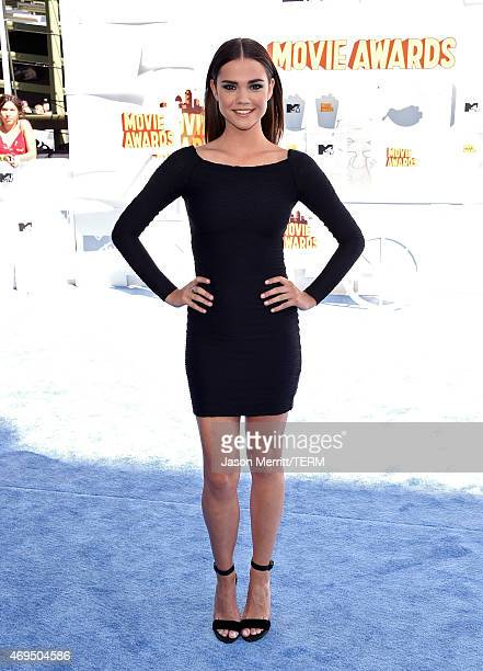 Actress Maia Mitchell attends The 2015 MTV Movie Awards at Nokia Theatre LA Live on April 12 2015 in Los Angeles California