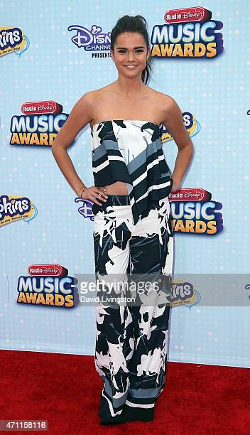 Actress Maia Mitchell attends the 2015 Radio Disney Music Awards at Nokia Theatre LA Live on April 25 2015 in Los Angeles California
