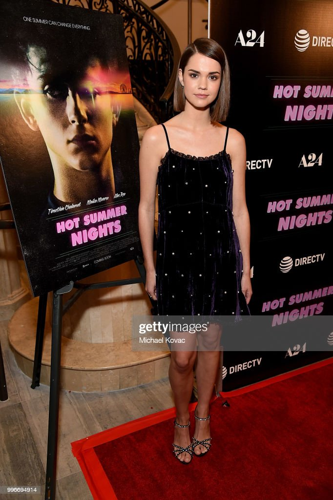 Actress Maia Mitchell attends the Los Angeles Special Screening of 'Hot Summer Nights' on July 11, 2018 in Los Angeles, California.