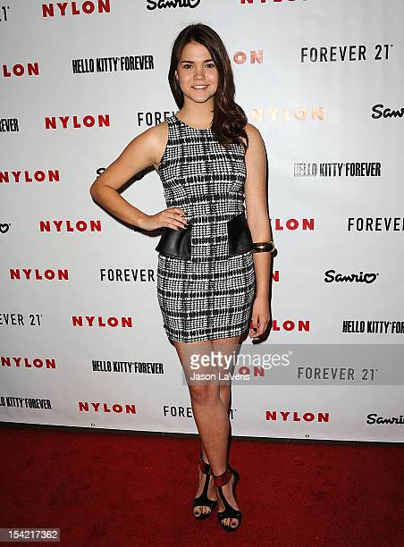 Actress Maia Mitchell attends the Nylon October IT issue celebration and launch of the Hello Kitty and Forever 21 collaboration at The London West...