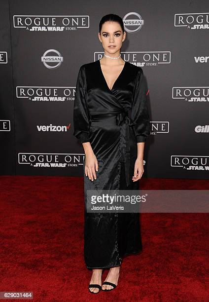 Actress Maia Mitchell attends the premiere of Rogue One A Star Wars Story at the Pantages Theatre on December 10 2016 in Hollywood California