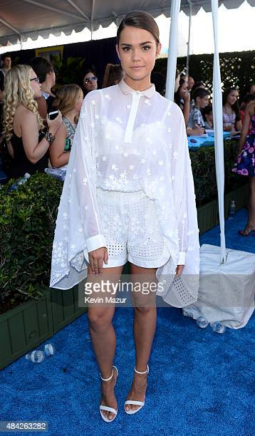Actress Maia Mitchell attends the Teen Choice Awards 2015 at the USC Galen Center on August 16 2015 in Los Angeles California