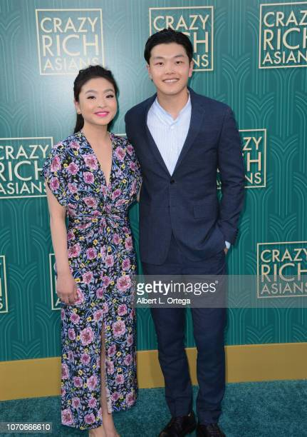 Actress Maia Shibutani and actor Alex Shibutani arrive for Warner Bros Pictures' 'Crazy Rich Asians' Premiere held at TCL Chinese Theatre IMAX on...