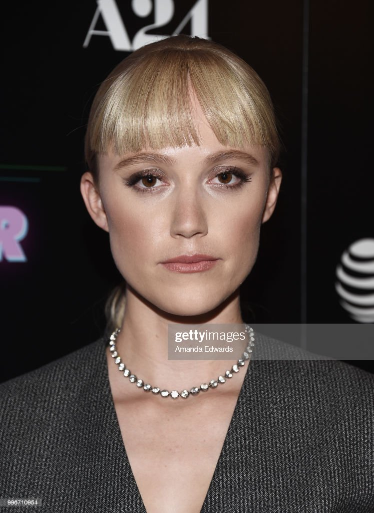 Actress Maika Monroe arrives at the Los Angeles special screening of 'Hot Summer Nights' at the Pacific Theatres at The Grove on July 11, 2018 in Los Angeles, California.