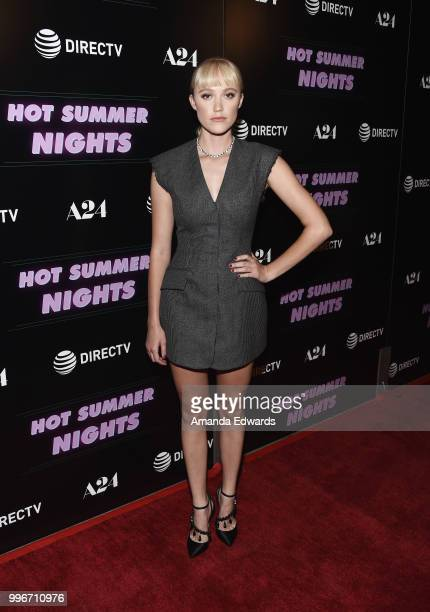 Actress Maika Monroe arrives at the Los Angeles special screening of 'Hot Summer Nights' at the Pacific Theatres at The Grove on July 11 2018 in Los...