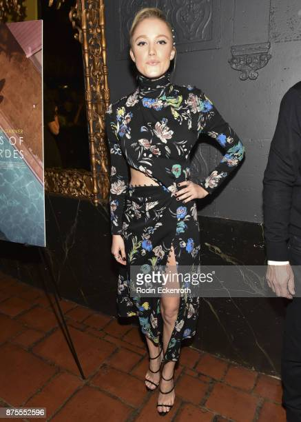 "Actress Maika Monroe arrives at the premiere of IFC Films' ""The Tribes of Palos Verdes"" at The Theatre at Ace Hotel on November 17, 2017 in Los..."
