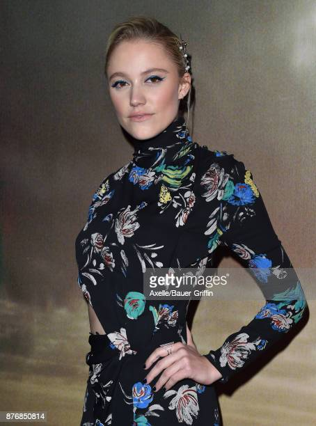 Actress Maika Monroe arrives at the premiere of 'The Tribes of Palos Verdes' at The Theatre at Ace Hotel on November 17 2017 in Los Angeles California