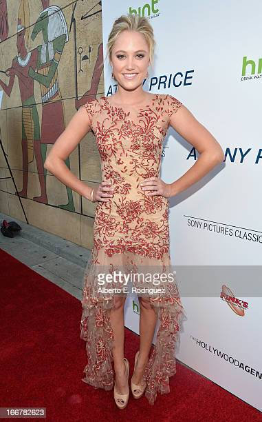 Actress Maika Monroe attend the premiere of Sony Pictures Classics' At Any Price at the Egyptian Theatre on April 16 2013 in Hollywood California
