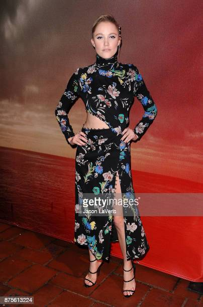 Actress Maika Monroe attends the premiere of 'The Tribes of Palos Verdes' at The Theatre at Ace Hotel on November 17 2017 in Los Angeles California