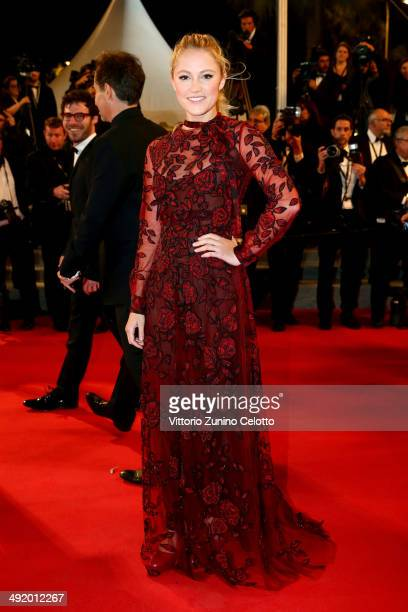 Actress Maika Monroe attends 'The Rover' premiere during the 67th Annual Cannes Film Festival on May 18 2014 in Cannes France