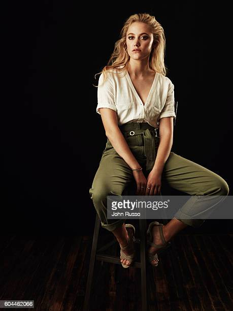 Actress Maika Monroe is photographed for 20th Century Fox on March 23 2016 in Los Angeles California