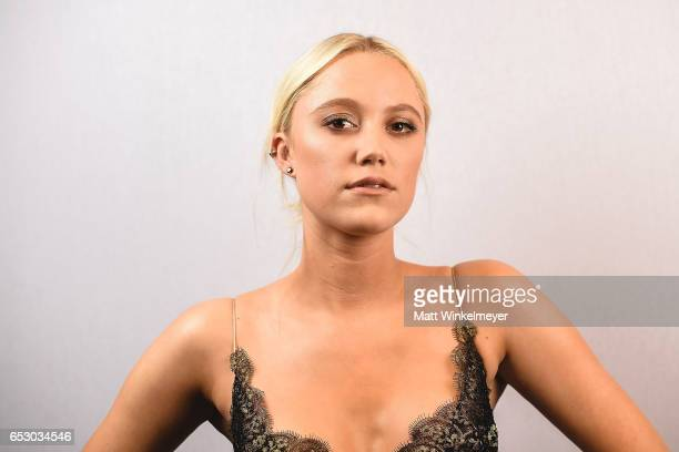 "Actress Maika Monroe poses for a portrait during the ""Hot Summer Nights"" premiere 2017 SXSW Conference and Festivals 13, 2017 in Austin, Texas."