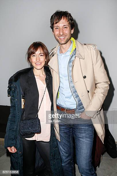Actress Maike von Bremen and Alexander Kreuzer attend the presentation of a joint project by COS and Michael Sailstorfer on April 27 2016 in Berlin...