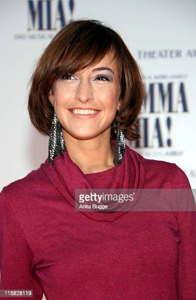 Actress Maike von Bremen attends the Berlin 'Mamma Mia' premiere at the Potsdamer Platz Theater October 21 2007 in Berlin Germany