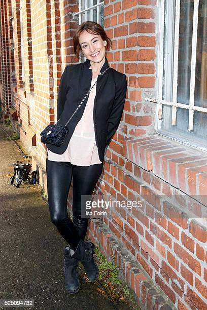 Actress Maike von Bremen attends the presentation of a joint project by COS and Michael Sailstorfer on April 27 2016 in Berlin Germany