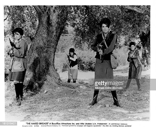 Actress Mairi Hronopoulou on set of the Universal Pictures movie The Naked Brigade in 1965