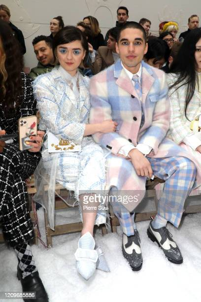 Actress Maisie Williams and her boyfriend Reuben Selby attend the Thom Browne show as part of the Paris Fashion Week Womenswear Fall/Winter 2020/2021...