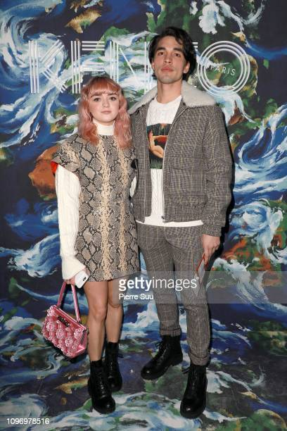 Actress Maisie Williams and Reuben Selby attends the Kenzo Menswear Fall/Winter 2019-2020 show as part of Paris Fashion Week on January 20, 2019 in...