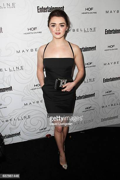 Actress Maisie Williams arrives at the Entertainment Weekly celebration honoring nominees for The Screen Actors Guild Awards at the Chateau Marmont...
