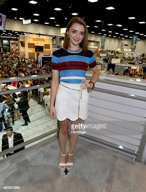 Actress Maisie Williams at the 'Game Of Thrones' autograph signing during ComicCon International 2015 at the San Diego Convention Center on July 10...