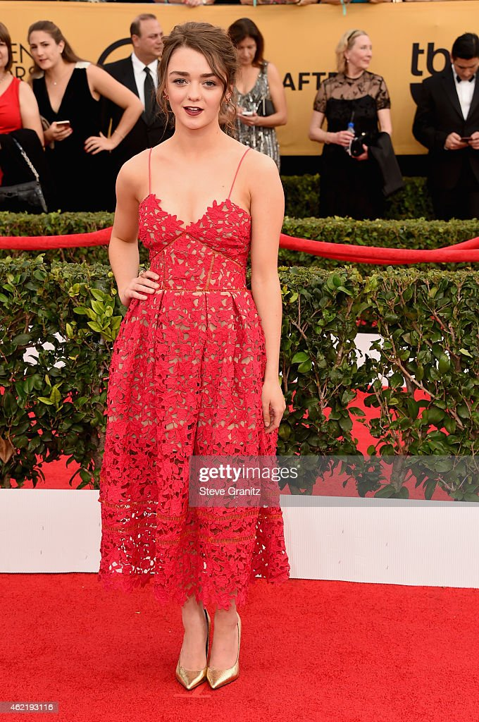 Actress Maisie Williams attends the 21st Annual Screen Actors Guild Awards at The Shrine Auditorium on January 25, 2015 in Los Angeles, California.
