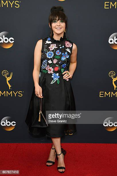 Actress Maisie Williams attends the 68th Annual Primetime Emmy Awards at Microsoft Theater on September 18 2016 in Los Angeles California
