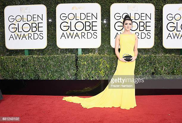 Actress Maisie Williams attends the 74th Annual Golden Globe Awards at The Beverly Hilton Hotel on January 8 2017 in Beverly Hills California