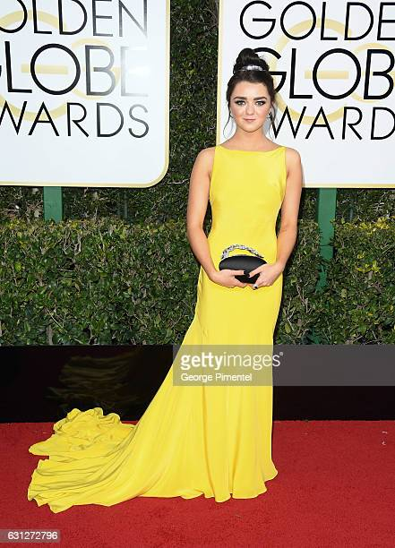 Actress Maisie Williams attends the 74th Annual Golden Globe Awards held at The Beverly Hilton Hotel on January 8, 2017 in Beverly Hills, California.
