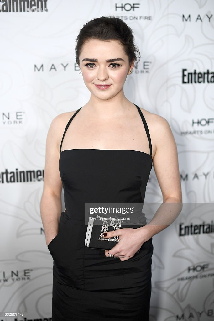 Actress Maisie Williams attends the Entertainment Weekly Celebration of SAG Award Nominees sponsored by Maybelline New York at Chateau Marmont on January 28, 2017 in Los Angeles, California.
