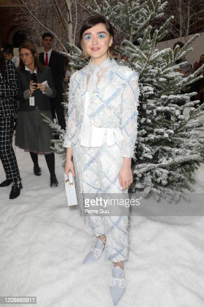 Actress Maisie Williams attends the Thom Browne show as part of the Paris Fashion Week Womenswear Fall/Winter 2020/2021 on March 01, 2020 in Paris,...