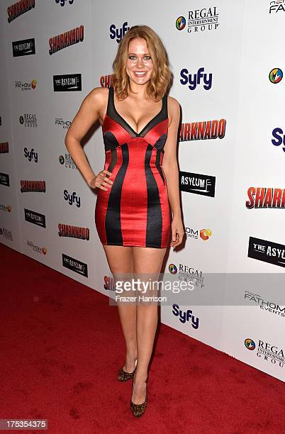 Actress Maitland Ward arrives at Fathom Events Presents The Premiere Of The Asylum And Syfy's Sharknado at Regal Cinemas LA Live on August 2 2013 in...