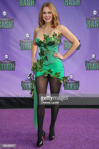 Actress Maitland Ward arrives at Hub Network's 1st annual Halloween bash at Barker Hangar on October 20 2013 in Santa Monica California