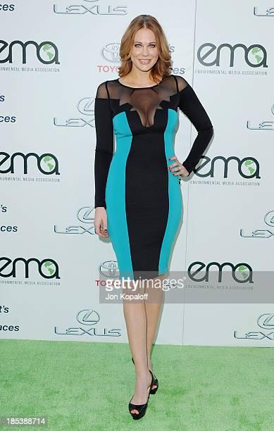 Actress Maitland Ward arrives at the 2013 Environmental Media Awards at Warner Bros Studios on October 19 2013 in Burbank California