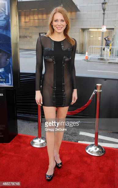 Actress Maitland Ward arrives at the Los Angeles premiere of A Haunted House 2 at Regal Cinemas LA Live on April 16 2014 in Los Angeles California