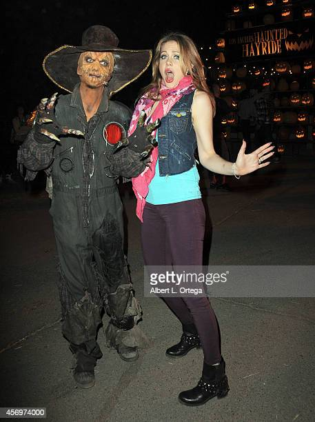 Actress Maitland Ward arrives for the Los Angeles Haunted Hayride held at Griffith Park on October 9, 2014 in Los Angeles, California.