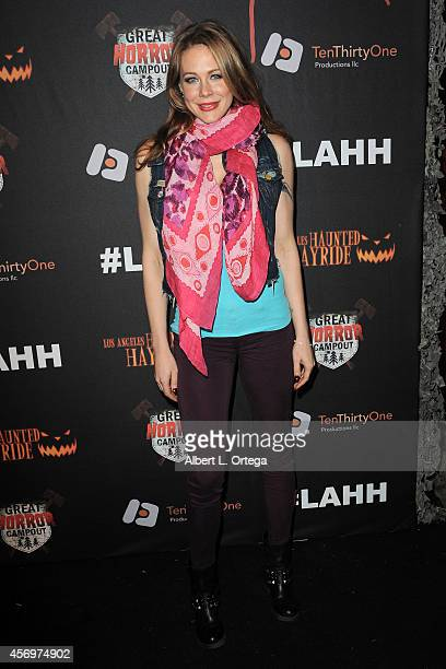 Actress Maitland Ward arrives for the Los Angeles Haunted Hayride held at Griffith Park on October 9 2014 in Los Angeles California