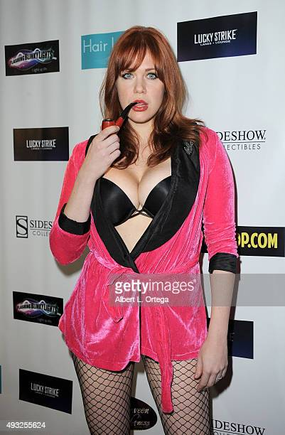 Actress Maitland Ward as Playboy's Hugh Hefner at the Halloween Hotness 20 Costume Party to benefit The National Breast Cancer Foundation held at the...