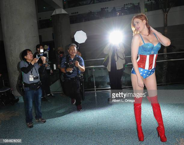 Actress Maitland Ward attends day 2 of Los Angeles Comic Con held at Los Angeles Convention Center on October 27 2018 in Los Angeles California