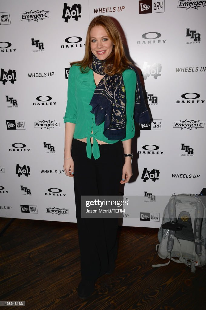 Actress Maitland Ward attends Day 2 of Oakley Learn To Ride With AOL At Sundance on January 18, 2014 in Park City, Utah.