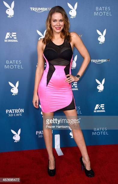 Actress Maitland Ward attends Playboy and AE Bates Motel Event during ComicCon International 2014 on July 25 2014 in San Diego California