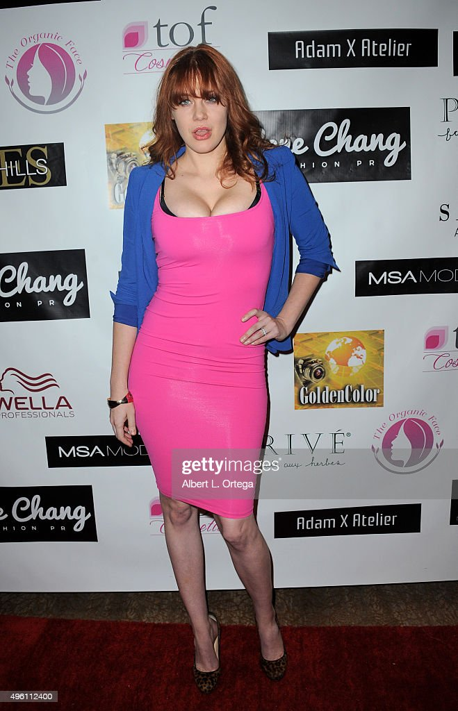 Actress Maitland Ward attends 'Reel Haute' In Hollywood International Couture Fashion Show held at The Beverly Hilton Hotel on November 6, 2015 in Beverly Hills, California.