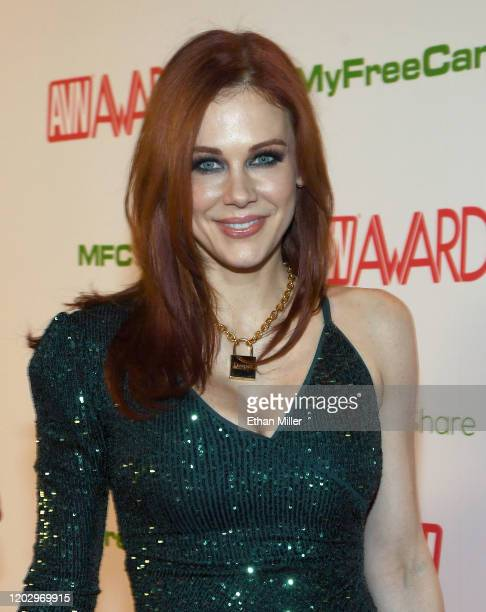 Actress Maitland Ward attends the 2020 Adult Video News Awards at The Joint inside the Hard Rock Hotel Casino on January 25 2020 in Las Vegas Nevada...