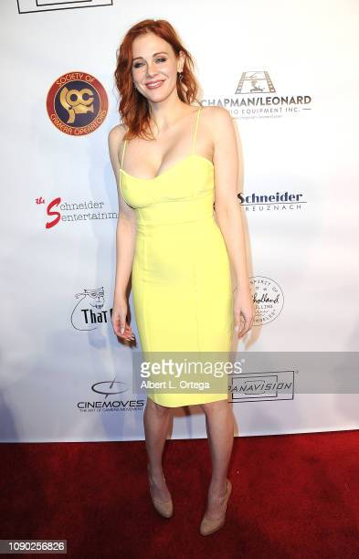 Actress Maitland Ward attends The Society Of Camera Operators 40th Annual Lifetime Achievement Awards held at Loews Hollywood Hotel on January 26...