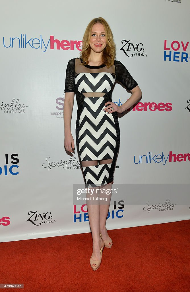Actress Maitland Ward attends the Unlikely Heroes Red Carpet Spring Benefit held at SupperClub Los Angeles on March 20, 2014 in Los Angeles, California.