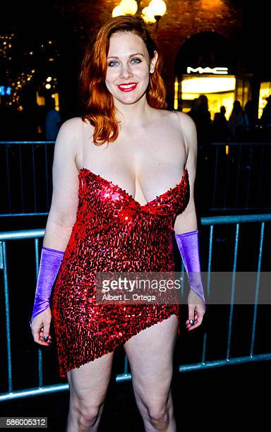 Actress Maitland Ward dressed as Jessica Rabbit on day 3 attends ComicCon International 2016 at San Diego Convention Center on July 23 2016 in San...